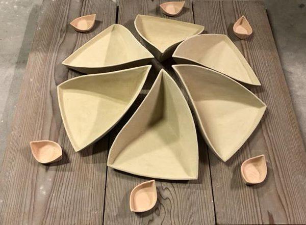 船首鉢と艀豆皿