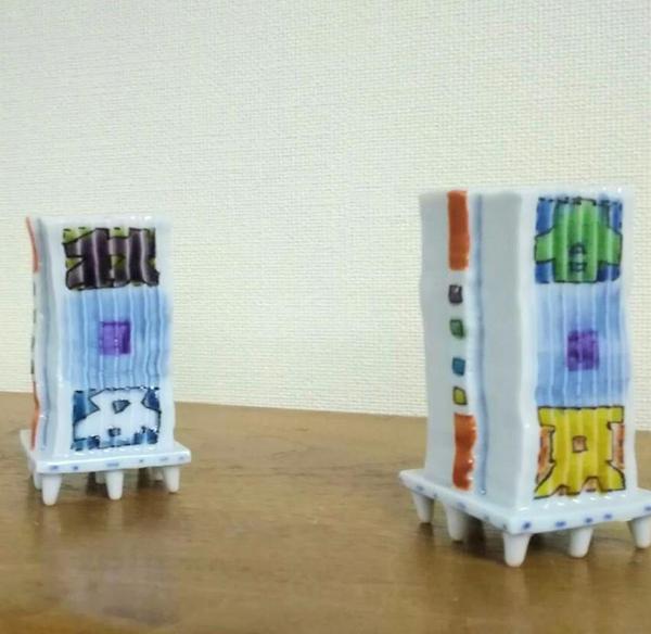 磁器で出来たショットグラス (*^▽^*)